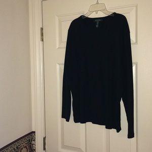 Lauren Ralph Lauren Black L/S Shirt Size 2X